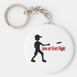 Ultimate Frisbee Love at First Flight Basic Round Button Key Ring