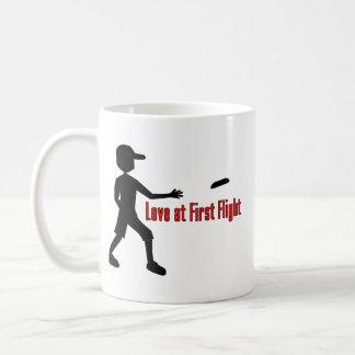 Ultimate Frisbee Love at First Flight Basic White Mug