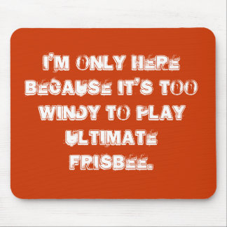 Ultimate frisbee mousepad