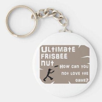Ultimate Frisbee Nut Keychain