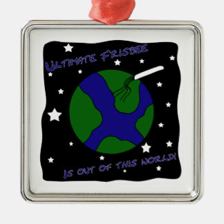 Ultimate Frisbee Out of this World Christmas Ornament