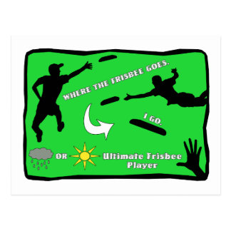 Ultimate Frisbee Postcard