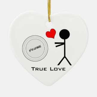 Ultimate Frisbee True Love Christmas Ornament