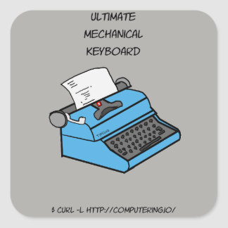 Ultimate Mechanical Keyboard - Typewriter Sticker