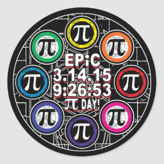 Ultimate Memorial for Epic Pi Day Symbol Classic Round Sticker