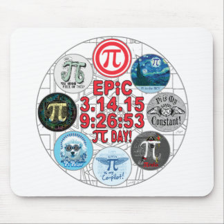 Ultimate Mudge Memorial for Epic Pi Day Mouse Pad