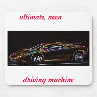 Ultimate, neon, driving machine, mousepad