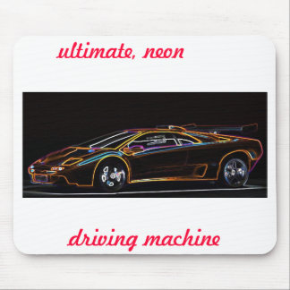 Ultimate, neon, driving machine, mousepad