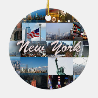 Ultimate! New York City Pro Photos Round Ceramic Decoration