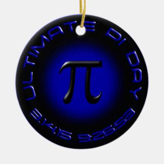 Ultimate Pi Day 2015 3.14.15 9:26:53 (blue) Round Ceramic Decoration