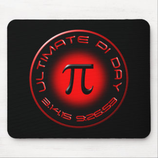 Ultimate Pi Day 2015 3.14.15 9:26:53 (red) Mouse Pad