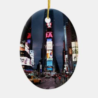 Ultimate Times Square New York City USA Ceramic Oval Decoration