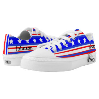 Ultimate USA Stars and Stripes Patriot Blue Low Tops