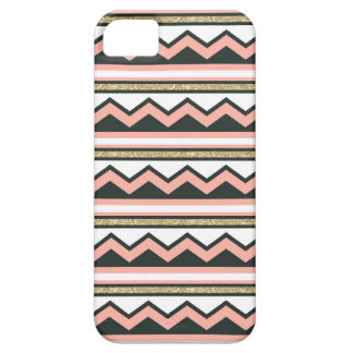 Ultra Chic Gold & Coral Chevron iPhone 5/5s Case