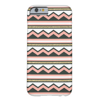 Ultra Chic Gold & Coral Chevron iPhone 6 case