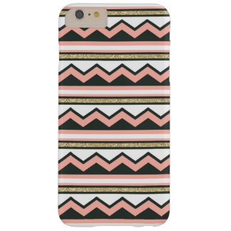 Ultra Chic Gold Coral Chevron iPhone 6 PLUS Case +