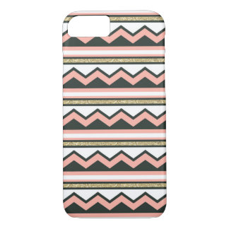 Ultra Chic Gold Coral Chevron iPhone 7 Case