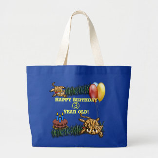 Ultra Cute 3 Year Old Leopard Safari Birthday Bag