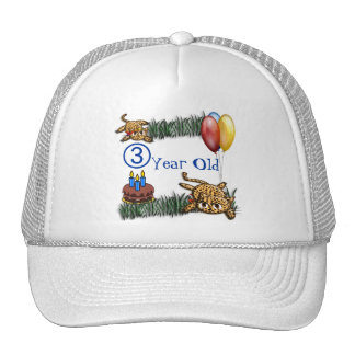 Ultra Cute 3 Year OLD Leopard Safari Birthday Hats
