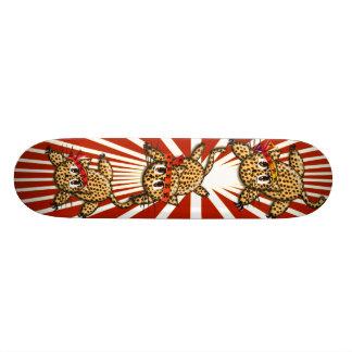 Ultra Cute Leopard Safari Birthday Invitations Custom Skateboard