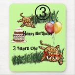 Ultra Cute Leopard Safari Birthday Invitations Wit Mouse Pads