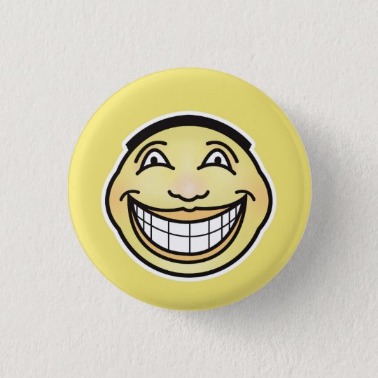 Ultra Happy Smiley Face Button