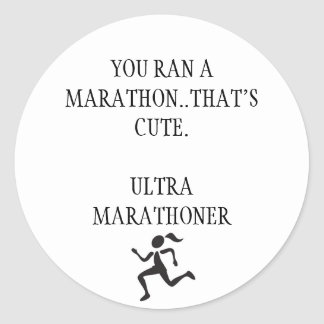 Ultra Marathon Round Sticker