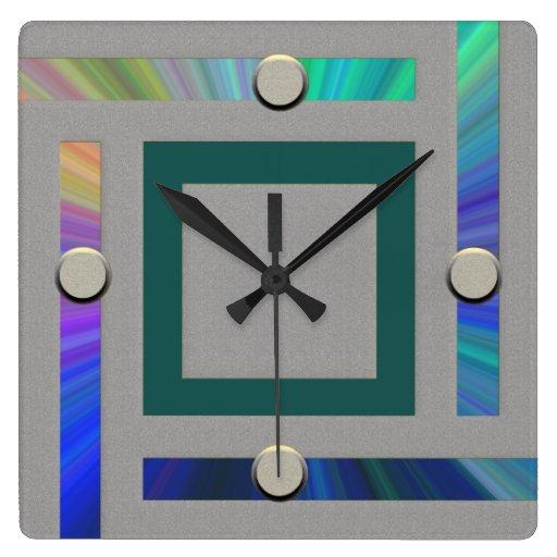 ultra modern contemporary wall clock zazzle