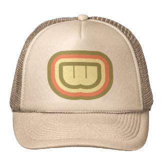 Ultra Modern deco art monogram W in 3 colors Trucker Hat