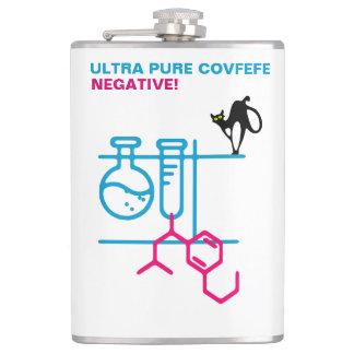 Ultra Pure Covfefe. Negative. Customizable Hip Flask