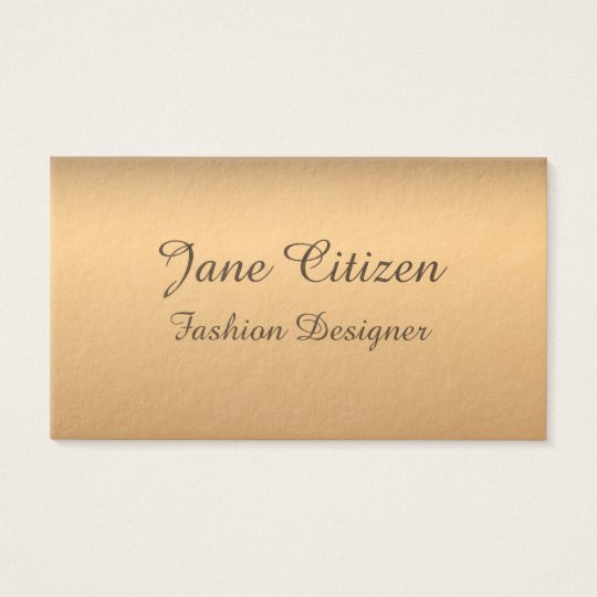 Ultra-Thick Premium Bronze Fashion Business Card