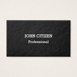 Ultra-Thick Premium Professional Black Business Card