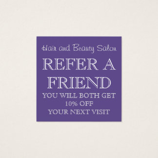 Ultra Violet Beauty Salon Referral Card