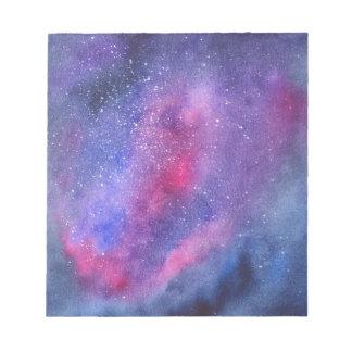 Ultra violet galaxy notepad