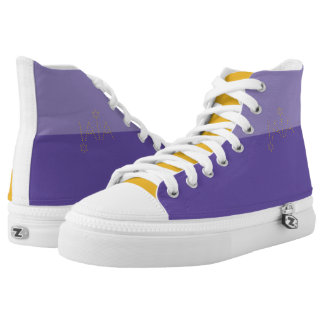 Ultra violet & mustard yellow high tops