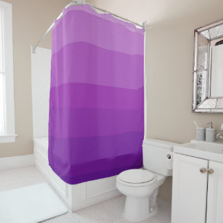 Ultra Violet Ombre Shower Curtain