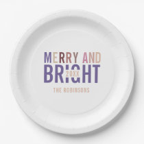 Ultra Violet Palette Christmas Paper Plate