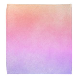 Ultra violet peach and golden gradient bandana