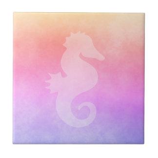 Ultra violet peach purple golden gradient seahorse tile