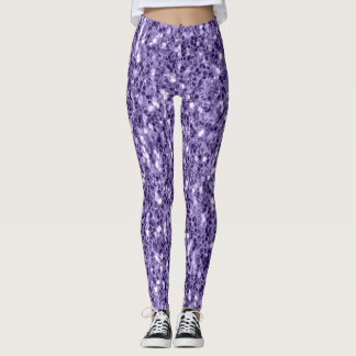 Ultra violet purple glitter sparkles leggings