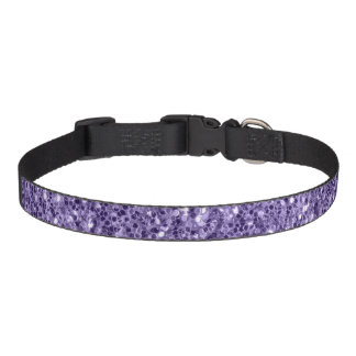 Ultra violet purple glitter sparkles pet collar