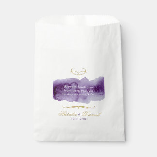 Ultra Violet Watercolor Wedding Favour Bags