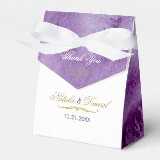 Ultra Violet Watercolor Wedding Favour Box