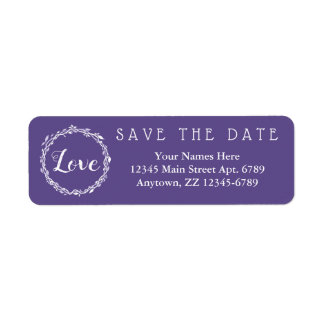 Ultra Violet Wedding Purple Save The Date
