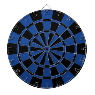 Ultramarine Blue And Black Dartboard
