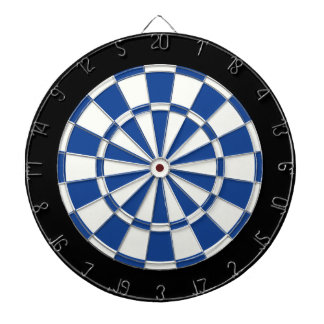 Ultramarine Blue Black And White Dartboards