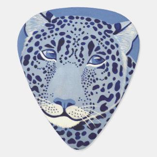 Ultramarine Jaguar Guitar Pick (Dual Sided Image)