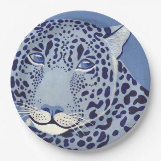 Ultramarine Jaguar Paper Plates