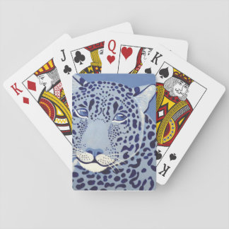 Ultramarine Jaguar Playing Cards