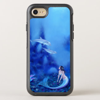 Ultramarine Mermaid & Dolphins OtterBox Symmetry iPhone 7 Case
